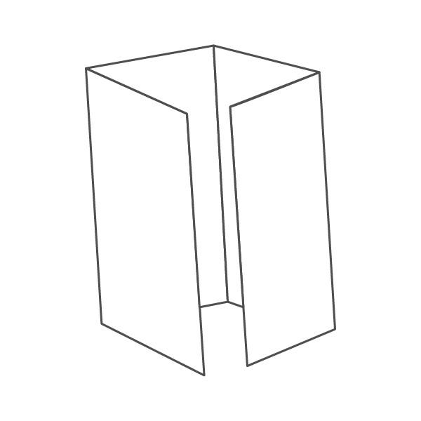 pieghevole 4 ante - 8 facciate A5L 420x297 mm piega su piega