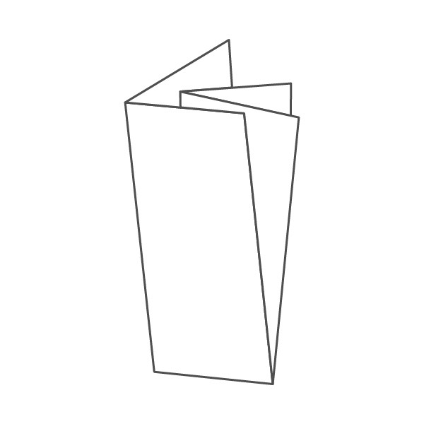 pieghevole 4 ante - 8 facciate A5L 210x594 mm croce