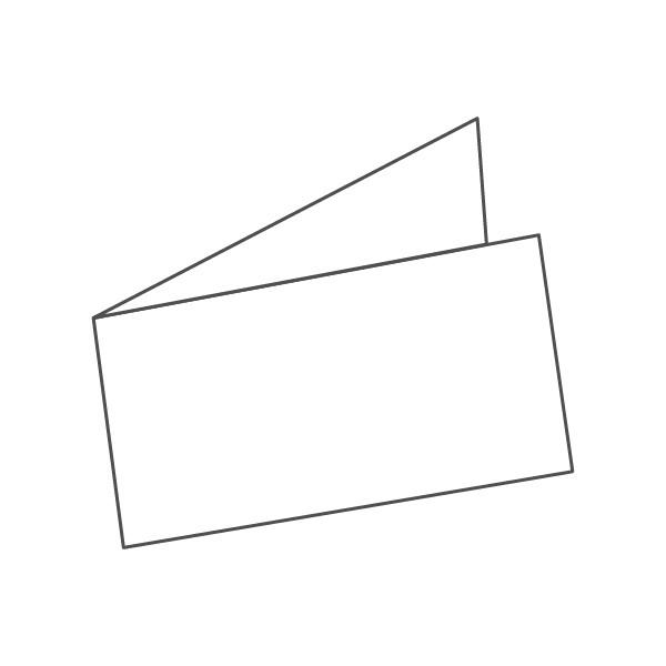 pieghevole 2 ante - 4 facciate A6L orizzontale 420x74 mm semplice