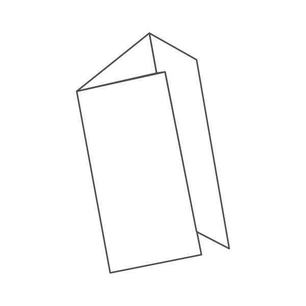 pieghevole 3 ante - 6 facciate 98x210 294x210 mm portafoglio