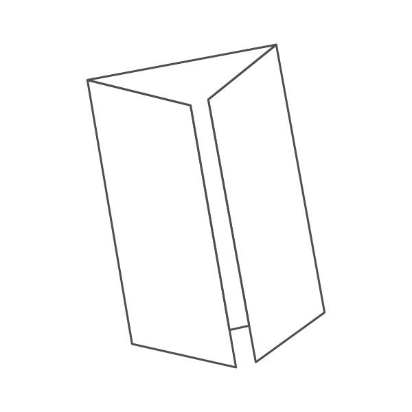 pieghevole 3 ante - 6 facciate 98x210 196x210 mm finestra