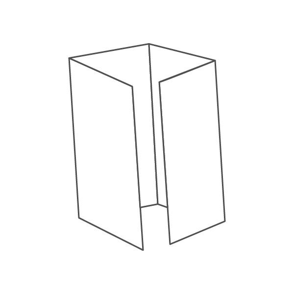 pieghevole 4 ante - 8 facciate 98x210 392x210 mm piega su piega