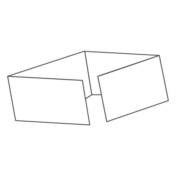 pieghevole 4 ante - 8 facciate 98x210 orizzontale 836x98 mm piega su piega