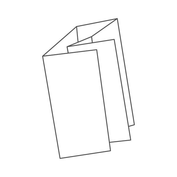 pieghevole 6 ante - 12 facciate 98x210 590x210 mm doppio portafoglio