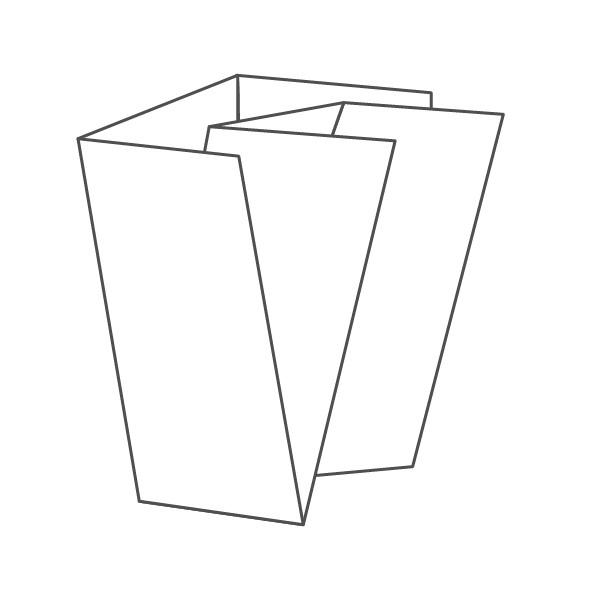 pieghevole 6 ante - 12 facciate 98x210 420x292 mm portafoglio+croce
