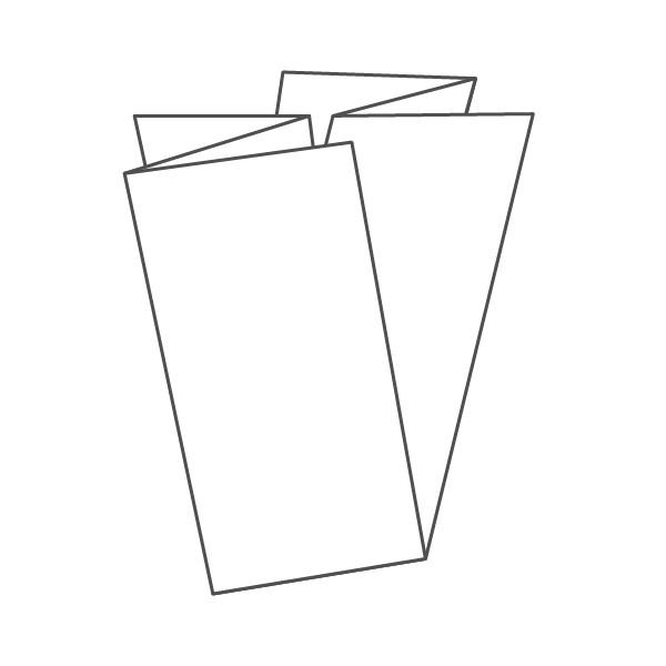pieghevole 6 ante - 12 facciate 98x210 420x290 mm fiarmonica+croce