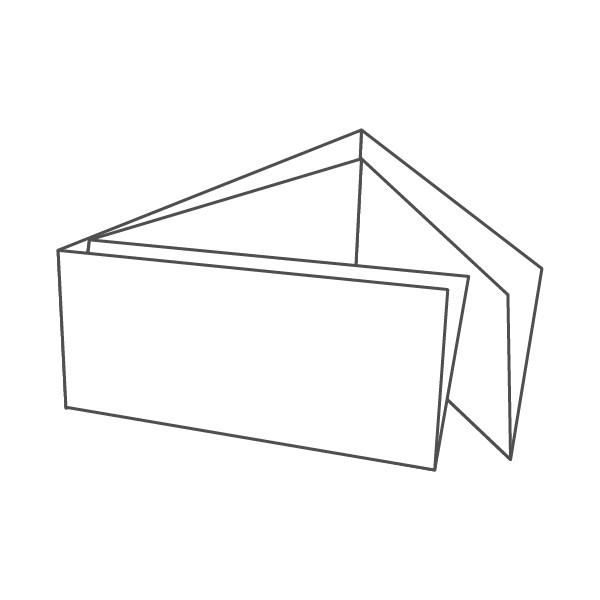 pieghevole 6 ante - 12 facciate 98x210 orizzontale 628x196 mm portafoglio+croce