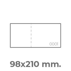 biglietti lotteria 98x210 orizzontale 1 numerazione + 1 perf