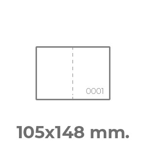 biglietti lotteria A6 orizzontale 1 numerazione e 1 perforazione