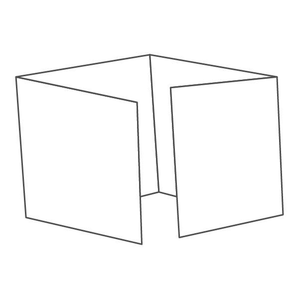 pieghevole 4 ante - 8 facciate 98x98 392x98 mm piega su piega