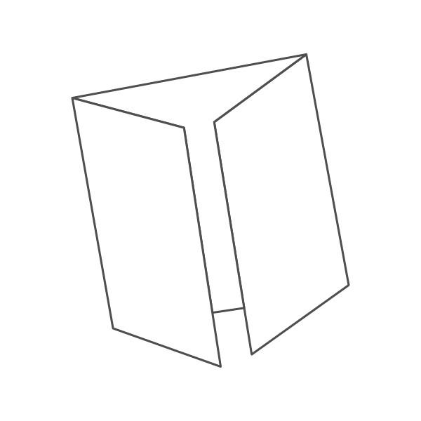 pieghevole 3 ante - 6 facciate 210x210 420x210 mm finestra