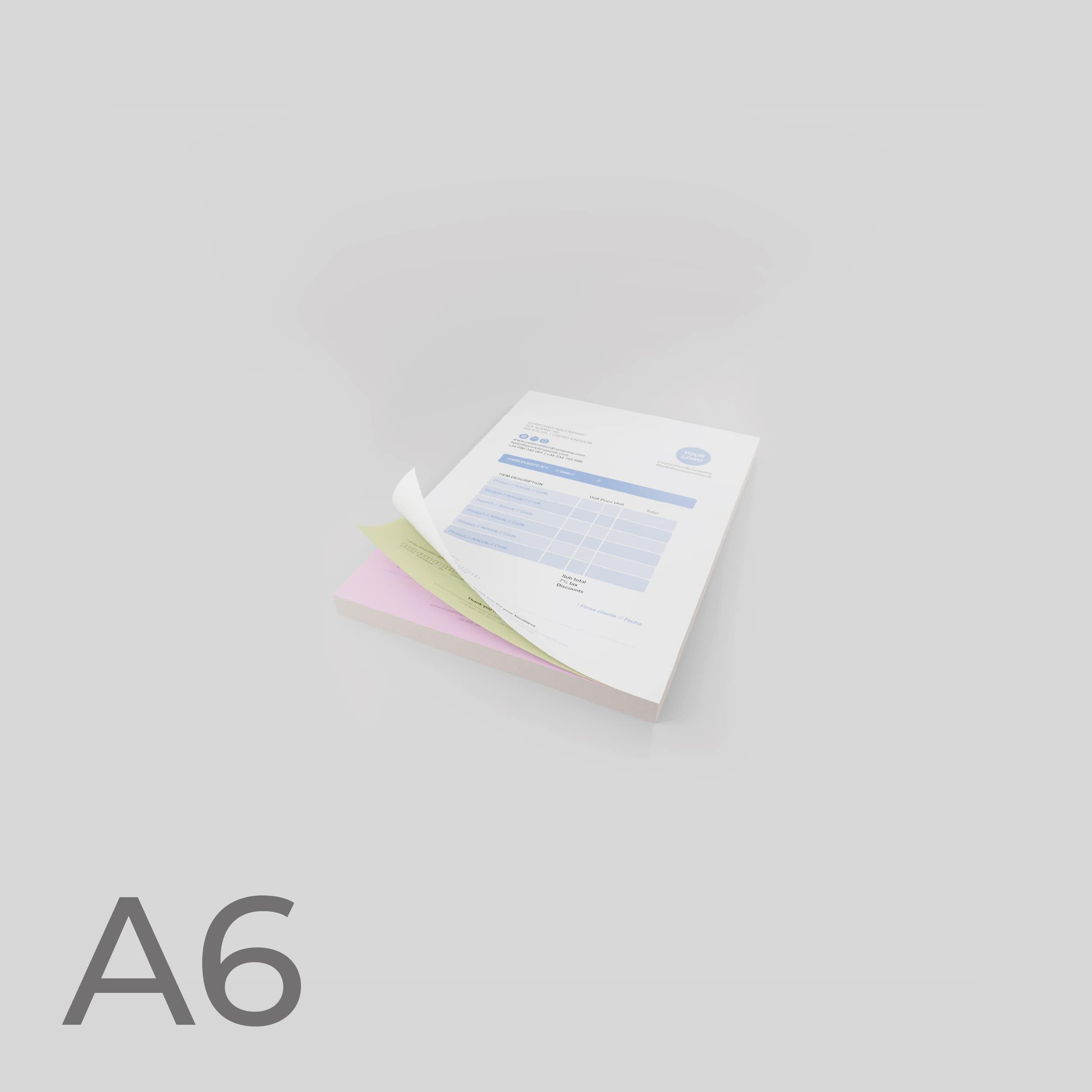 Moduli autoricalcanti Formato A6