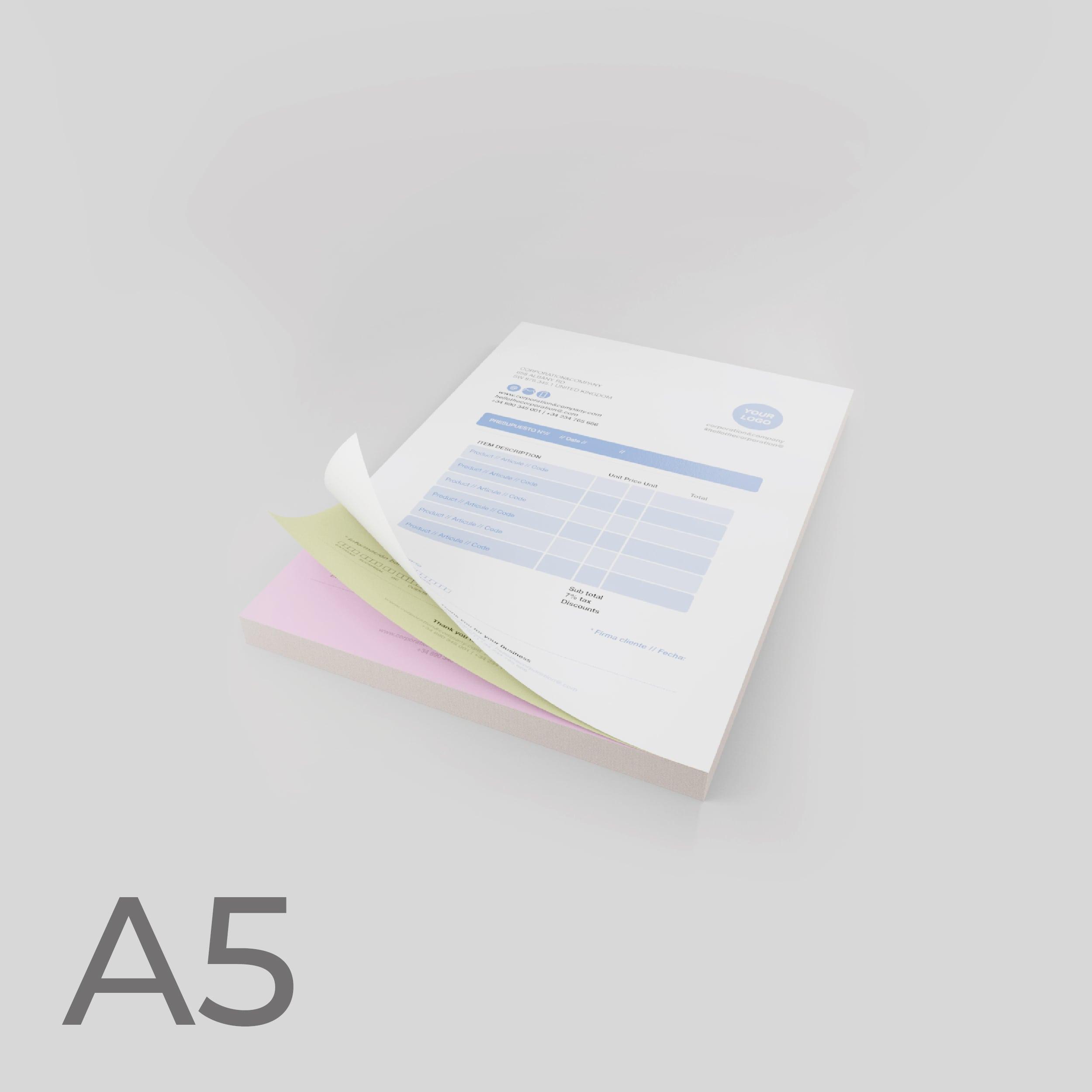 Moduli autoricalcanti Formato A5