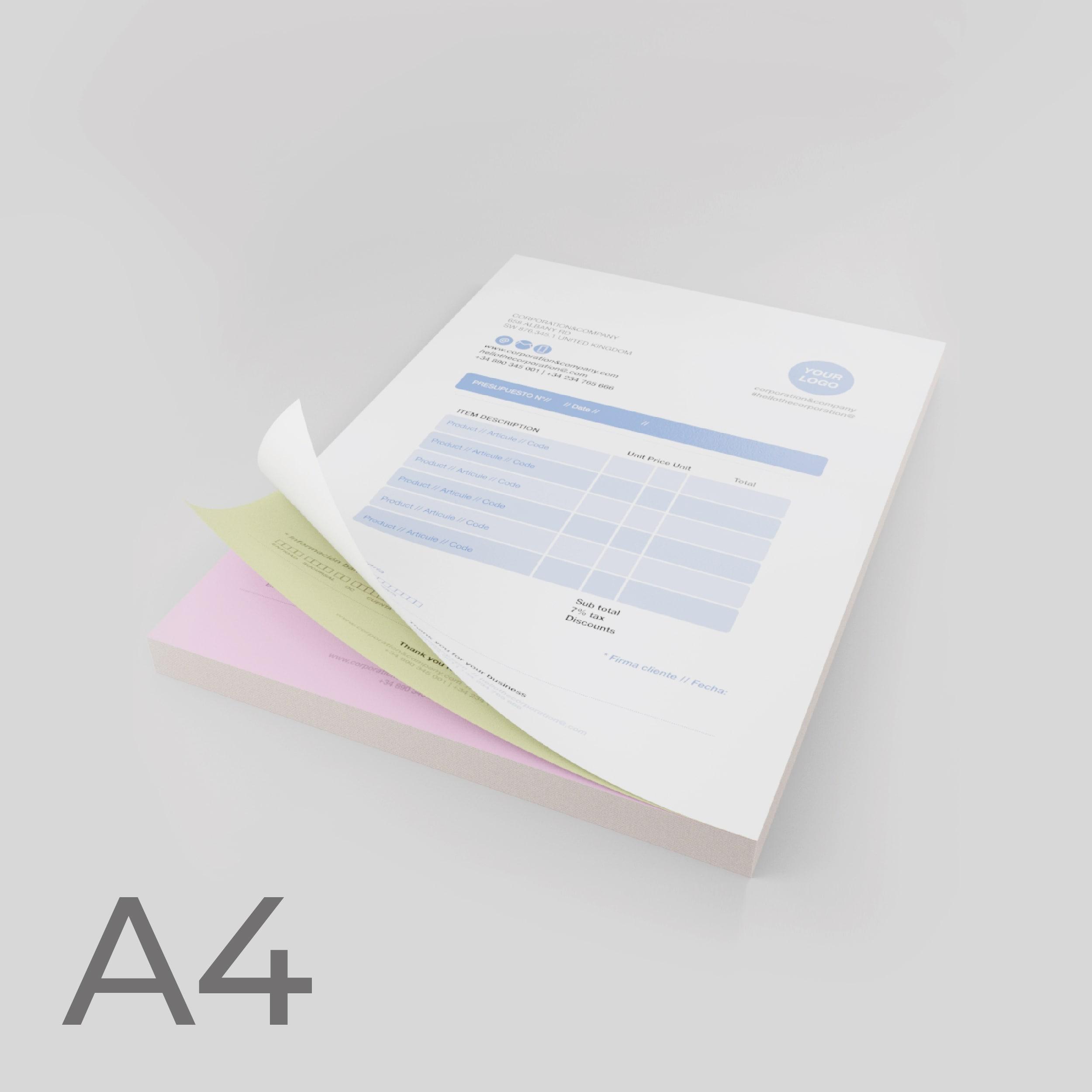 Moduli autoricalcanti Formato A4