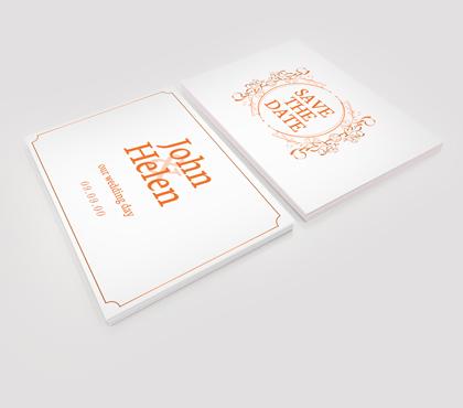 Cartoline e inviti su carta 300 gr