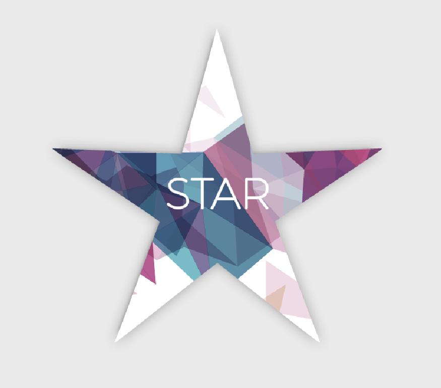 Volantini a forma di stella